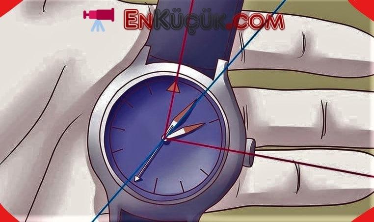 analog saat ile yon bulma